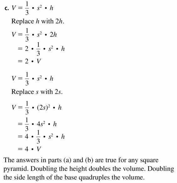 Big Ideas Math Geometry Answers Chapter 11 Circumference, Area, and Volume 11.6 Ques 21.2