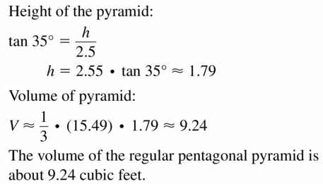 Big Ideas Math Geometry Answers Chapter 11 Circumference, Area, and Volume 11.6 Ques 23.2