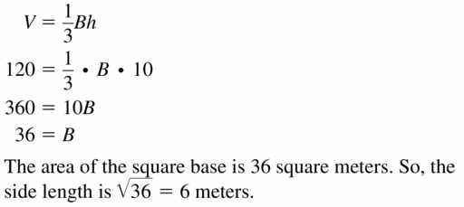 Big Ideas Math Geometry Answers Chapter 11 Circumference, Area, and Volume 11.6 Ques 5