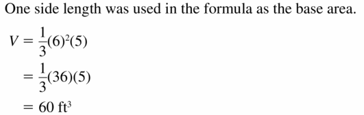 Big Ideas Math Geometry Answers Chapter 11 Circumference, Area, and Volume 11.6 Ques 9