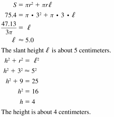 Big Ideas Math Geometry Answers Chapter 11 Circumference, Area, and Volume 11.7 Ques 11