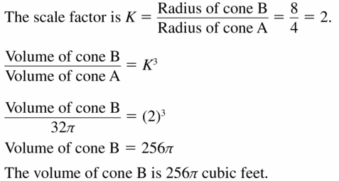 Big Ideas Math Geometry Answers Chapter 11 Circumference, Area, and Volume 11.7 Ques 13
