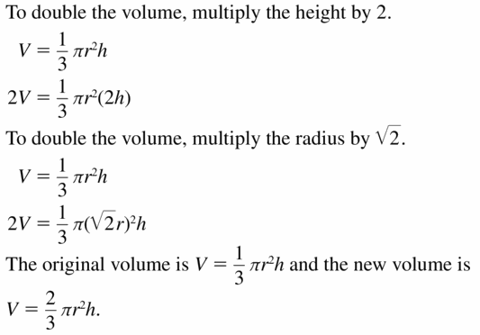 Big Ideas Math Geometry Answers Chapter 11 Circumference, Area, and Volume 11.7 Ques 17