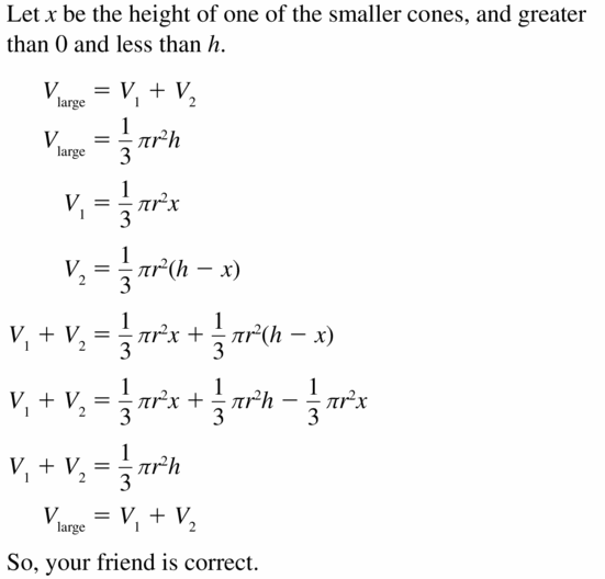 Big Ideas Math Geometry Answers Chapter 11 Circumference, Area, and Volume 11.7 Ques 25