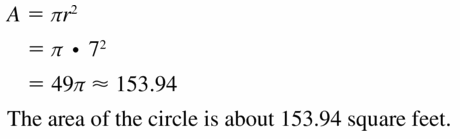Big Ideas Math Geometry Answers Chapter 11 Circumference, Area, and Volume 11.7 Ques 27
