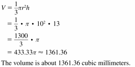 Big Ideas Math Geometry Answers Chapter 11 Circumference, Area, and Volume 11.7 Ques 7