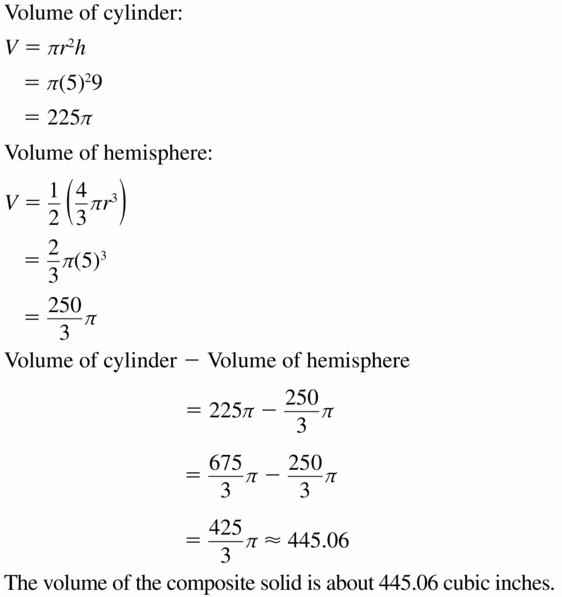 Big Ideas Math Geometry Answers Chapter 11 Circumference, Area, and Volume 11.8 Ques 23