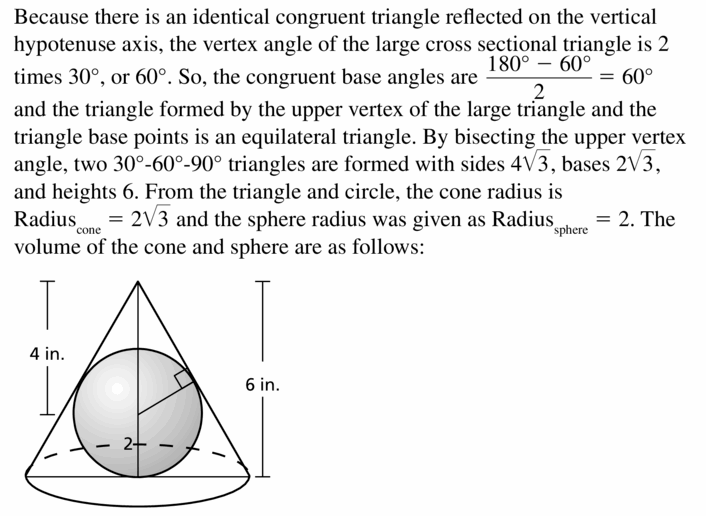 Big Ideas Math Geometry Answers Chapter 11 Circumference, Area, and Volume 11.8 Ques 47.2
