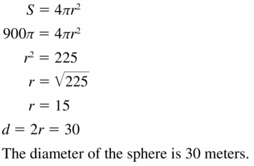 Big Ideas Math Geometry Answers Chapter 11 Circumference, Area, and Volume 11.8 Ques 9