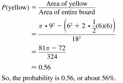 Big Ideas Math Geometry Answers Chapter 12 Probability 12.1 Qu 13