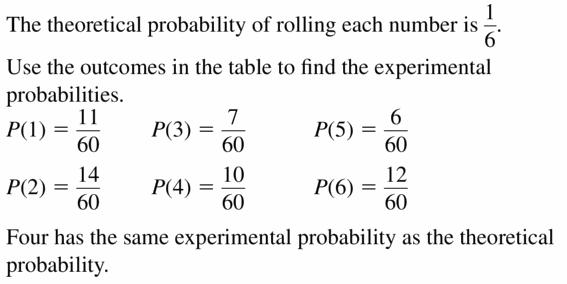 Big Ideas Math Geometry Answers Chapter 12 Probability 12.1 Qu 15