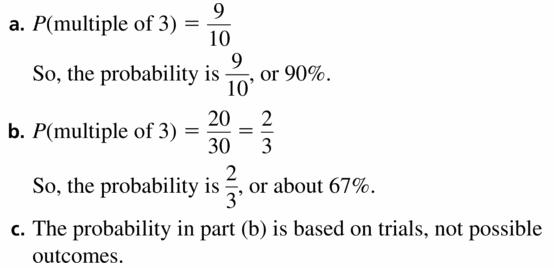 Big Ideas Math Geometry Answers Chapter 12 Probability 12.1 Qu 17