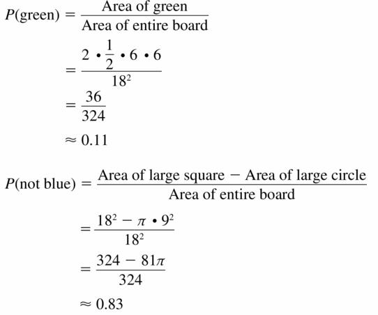 Big Ideas Math Geometry Answers Chapter 12 Probability 12.1 Qu 21.1