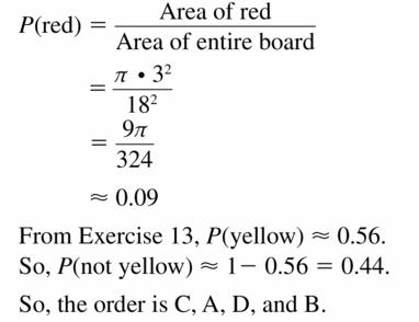Big Ideas Math Geometry Answers Chapter 12 Probability 12.1 Qu 21.2