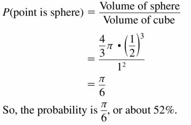 Big Ideas Math Geometry Answers Chapter 12 Probability 12.1 Qu 25.1
