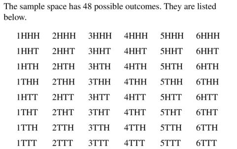 Big Ideas Math Geometry Answers Chapter 12 Probability 12.1 Qu 3.3