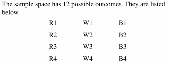 Big Ideas Math Geometry Answers Chapter 12 Probability 12.1 Qu 5