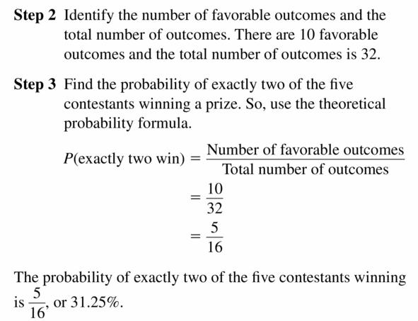 Big Ideas Math Geometry Answers Chapter 12 Probability 12.1 Qu 7.2