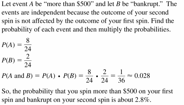 Big Ideas Math Geometry Answers Chapter 12 Probability 12.2 Qu 11