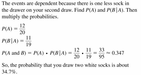 Big Ideas Math Geometry Answers Chapter 12 Probability 12.2 Qu 13