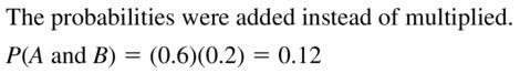 Big Ideas Math Geometry Answers Chapter 12 Probability 12.2 Qu 15