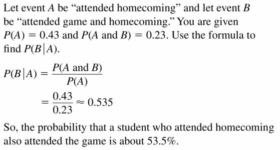 Big Ideas Math Geometry Answers Chapter 12 Probability 12.2 Qu 23