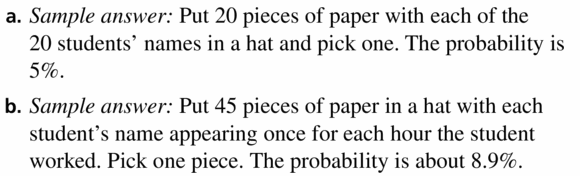 Big Ideas Math Geometry Answers Chapter 12 Probability 12.2 Qu 25