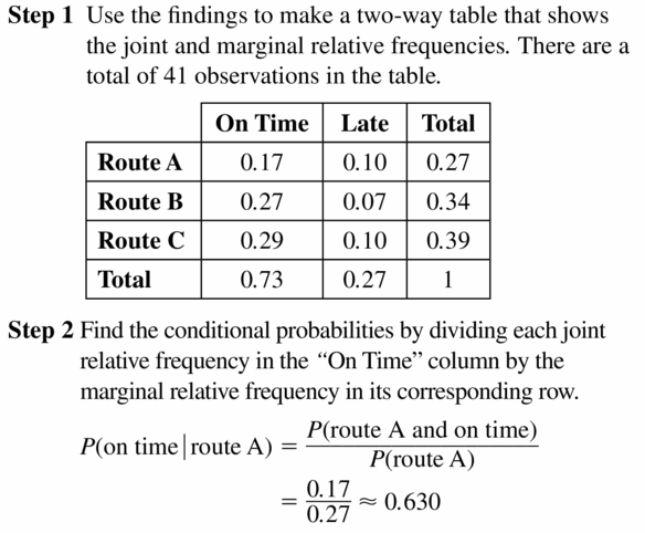 Big Ideas Math Geometry Answers Chapter 12 Probability 12.3 Qu 17.1