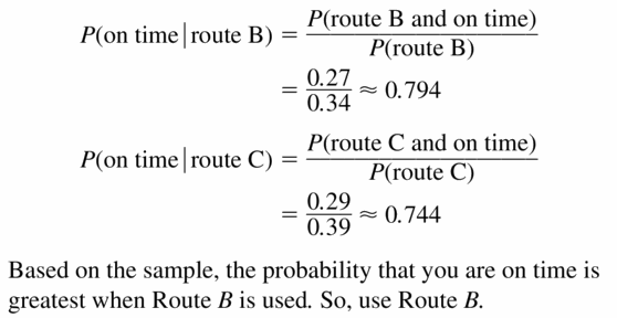 Big Ideas Math Geometry Answers Chapter 12 Probability 12.3 Qu 17.2