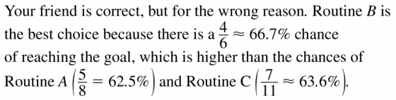 Big Ideas Math Geometry Answers Chapter 12 Probability 12.3 Qu 21