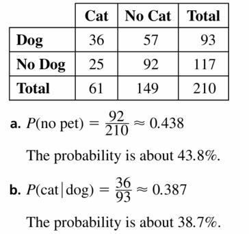 Big Ideas Math Geometry Answers Chapter 12 Probability 12.3 Qu 23