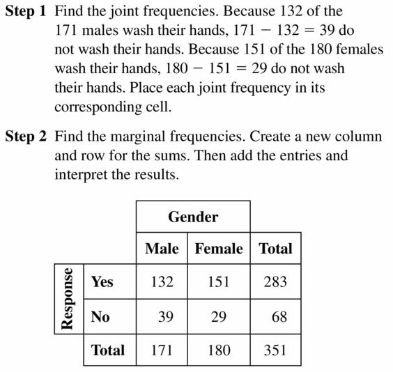 Big Ideas Math Geometry Answers Chapter 12 Probability 12.3 Qu 5.1