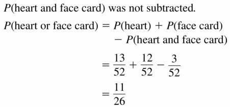 Big Ideas Math Geometry Answers Chapter 12 Probability 12.4 Qu 11