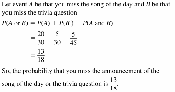 Big Ideas Math Geometry Answers Chapter 12 Probability 12.4 Qu 19