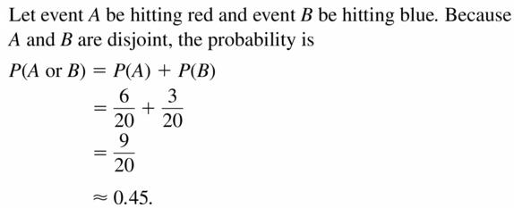 Big Ideas Math Geometry Answers Chapter 12 Probability 12.4 Qu 7
