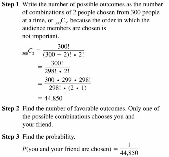 Big Ideas Math Geometry Answers Chapter 12 Probability 12.5 Qu 45