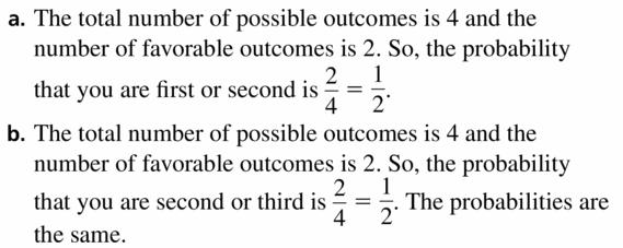 Big Ideas Math Geometry Answers Chapter 12 Probability 12.5 Qu 53