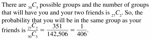 Big Ideas Math Geometry Answers Chapter 12 Probability 12.5 Qu 57