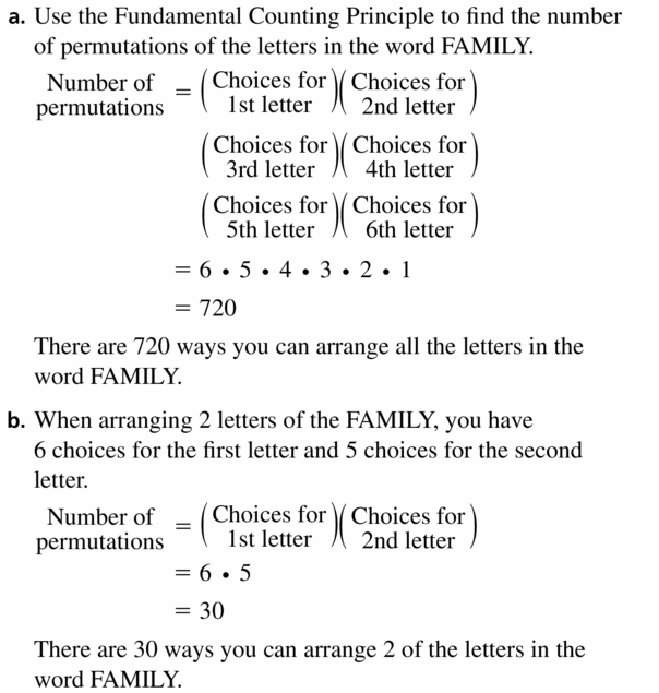 Big Ideas Math Geometry Answers Chapter 12 Probability 12.5 Qu 7