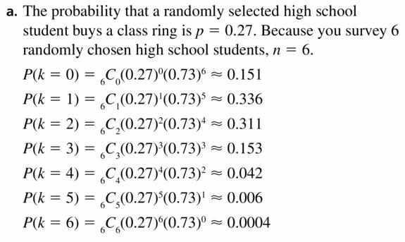 Big Ideas Math Geometry Answers Chapter 12 Probability 12.6 Qu 13.1
