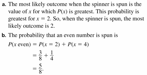 Big Ideas Math Geometry Answers Chapter 12 Probability 12.6 Qu 7
