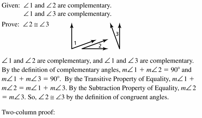 Big Ideas Math Geometry Answers Chapter 2 Reasoning and Proofs 2.6 Question 19.1