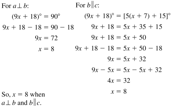 Big Ideas Math Geometry Answers Chapter 3 Parallel and Perpendicular Lines 3.4 a 25