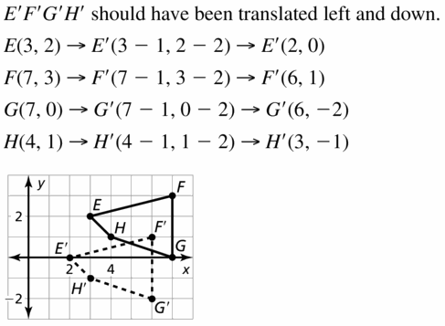 Big Ideas Math Geometry Answers Chapter 4 Transformations 4.1 Question 25