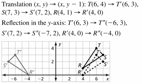 Big Ideas Math Geometry Answers Chapter 4 Transformations 4.2 Question 17