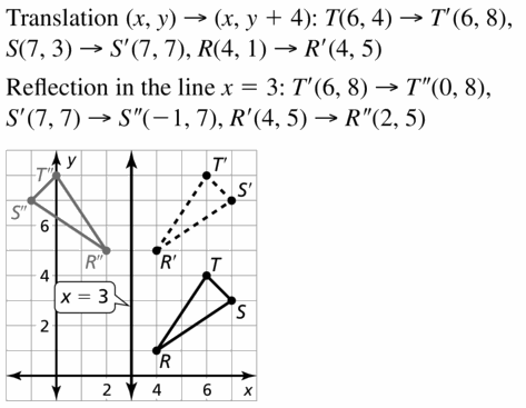 Big Ideas Math Geometry Answers Chapter 4 Transformations 4.2 Question 19