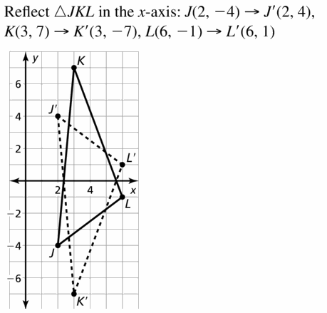 Big Ideas Math Geometry Answers Chapter 4 Transformations 4.2 Question 7