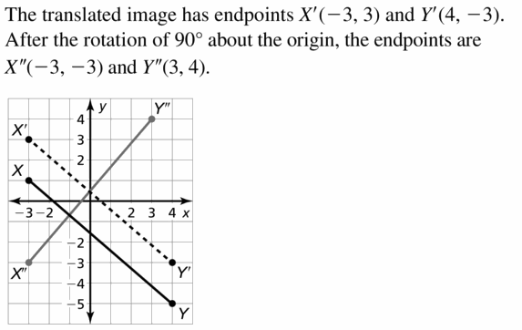 Big Ideas Math Geometry Answers Chapter 4 Transformations 4.3 Question 11