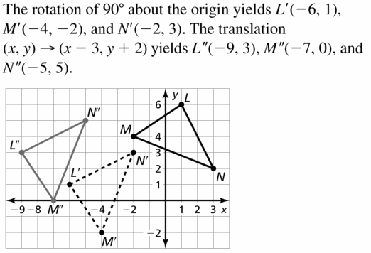 Big Ideas Math Geometry Answers Chapter 4 Transformations 4.3 Question 15