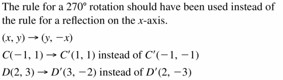 Big Ideas Math Geometry Answers Chapter 4 Transformations 4.3 Question 25